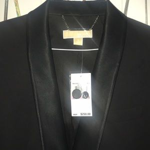 MICHAEL Michael Kors tuxedo blazer with satin trim